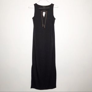 Rachel Zoe long black sleeveless maternity dress.